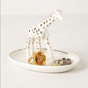 Anthropologie Gold Giraffe Jewelry/ Trinket Tray
